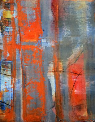 Arrachme Art; In Plain Sight, 2020, Original Painting Oil, 14 x 11 inches. Artwork description: 241 In plain sight, abstract oil on board caresses vivid warm tones.  Free bold oranges, exposing clean simple lines. Abstract Expression Oil Painting. ...