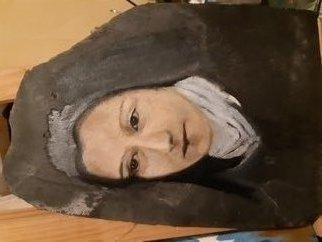 Ges  Eli; Holy Therese Of Jesus Child, 2020, Original Painting Oil, 30 x 42 cm. Artwork description: 241 Portrait on slate, noble creation of the creator for a creator. . .  to honor the God of this great Saint...
