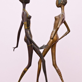 Zakir Ahmedov, , , Original Sculpture Bronze, size_width{Black_And_White_Beauties-1486286045.jpg} X 23 inches