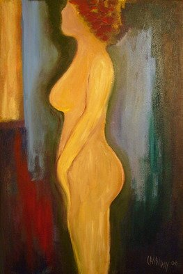 Bud Cassiday; Nude Study , 2008, Original Painting Acrylic, 16 x 24 inches. Artwork description: 241  This is a small nude study I did in April of 2008.  ...