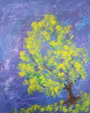 Janet Lapelusa; Shade Tree, 2020, Original Painting Acrylic, 18 x 24 inches. Artwork description: 241 Sponge paint tree with foliage I am amazed by the distinctive beauty of various trees. ...