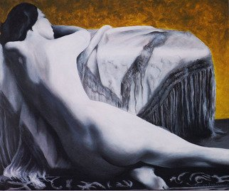 Mel Fiorentino; Golden, 2010, Original Painting Acrylic, 24 x 20 inches. Artwork description: 241   Original Painting. Nude model from the 1930s. ...