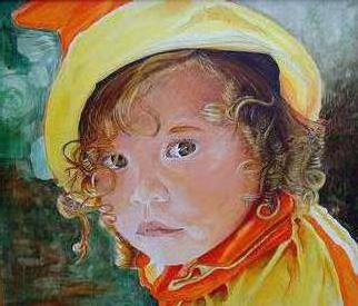 Rodolfo Chavarriaga; Kimberly, 1990, Original Painting Acrylic, 24 x 32 inches. Artwork description: 241 Portrait of dauther Kimberly at age 5...