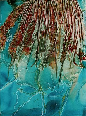 Carla Goldberg; Goddess Of The Frozen Reeds, 2010, Original Mixed Media, 30 x 40 inches.