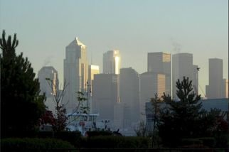 Phil Sprute; Seattle September 2006, 2006, Original Photography Color, 36 x 25 inches. Artwork description: 241  This is a waterfron picture of the Seattle skyline. It is a digital image taken early in the morning. The below dimensions are erroneous ( because it is a digital image) . ...