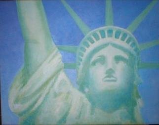 Painter Artdiem; Liberty, 2006, Original Painting Acrylic, 28 x 22 inches.