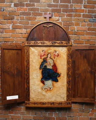 Gennaro Garcia; Retablo De La Imaculada C..., 2008, Original Painting Oil, 6 x 5 feet. Artwork description: 241  oil on canvas with hand carved retablo  ...