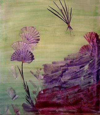 Gudrun Ploetz; Asian Touch 2, 2002, Original Painting Encaustic, 12 x 16 inches. Artwork description: 241 Encaustic on canvas...