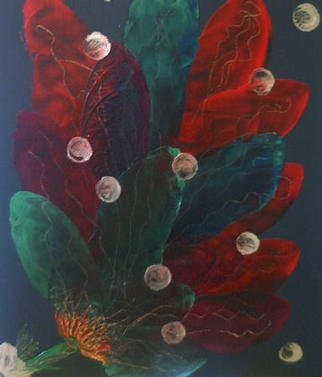 Gudrun Ploetz; Beauty On Black, 2002, Original Painting Encaustic, 20 x 24 inches. Artwork description: 241 Encaustic and acrylics on harboard...