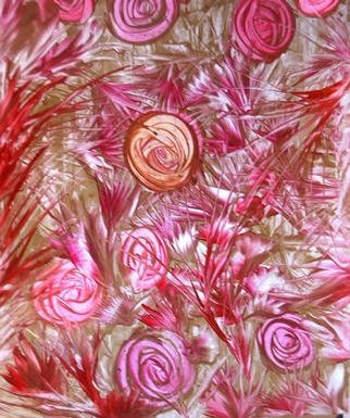 Gudrun Ploetz; Wild Roses, 2002, Original Painting Encaustic, 16 x 24 inches. Artwork description: 241 Encaustic on spezial cardboard...