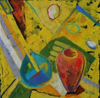 Federico Winqvist Estrada; Still Life In A Yellow Ligth, 2010, Original Mixed Media, 60 x 60 cm. Artwork description: 241    The hybrid print mixed- media technic used in this artwork is a combination of both laser print and original work. The original piece is first photographed then digitized in Photoshop. Afterwards the work is printed ( the buyer can at this phase of the process choose the size ...