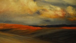 Susan Bell; Montana From The Road, 2014, Original Painting Oil, 12 x 16 inches. Artwork description: 241  rolling fields seen from the road ...