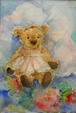 K C Tan Bee; Little Bo, 2005, Original Watercolor, 25 x 35 cm. Artwork description: 241  One of the artist' s famed teddy bear portraits. ...