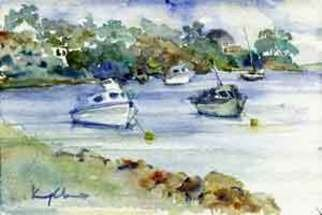 K C Tan Bee; River Series Boat 2, 2007, Original Watercolor, 25 x 20 cm. Artwork description: 241  Framed Print ...