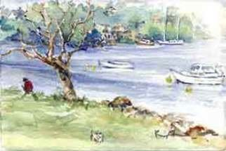 K C Tan Bee; River Series Boat 4, 2007, Original Watercolor, 25 x 20 cm. Artwork description: 241  Framed Print ...