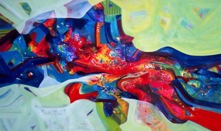 Sanjay Punekar; Inner Power, 2013, Original Painting Acrylic, 60 x 36 inches. Artwork description: 241  abstract, vibrant, ...