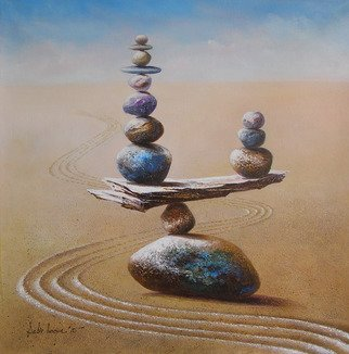 Sabir Haque; balance, 2015, Original Painting Acrylic, 32 x 32 inches. Artwork description: 241 Rock balancing is an art, discipline, or hobby in which rocks are naturally balanced on top of one another in various positions. Our life also one of balance. Success person keep it successfully. ...
