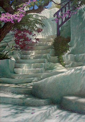 Brian Aurelio Piccini; Steps V, 2012, Original Painting Acrylic, 35 x 50 cm. Artwork description: 241  mykonos, cyclades, greece       ...