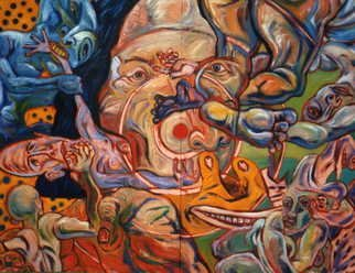 Michael Chomick; Catch 22, 1995, Original Painting Oil, 108 x 84 inches.