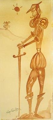 Roger Cummiskey; Quijote, 2005, Original Painting Other, 6 x 16 inches. Artwork description: 241 Happy Birthday Don!...