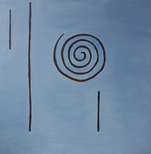 Artist: Roger Cummiskey's, title: Symbol of James Joyce, 2012, Painting Oil
