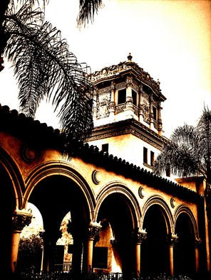 Tammy Gatten; Arches, 2008, Original Photography Other, 16 x 20 inches. Artwork description: 241  Photograph of a building in Balboa Park, SanDiego, California, USA. I change the effects with a variety of digital software then send to a lab to be developed or printed. ...