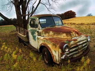 Tammy Gatten; Left Out, 2008, Original Photography Other, 20 x 16 inches. Artwork description: 241  A vintage pickup left out in a field in the midwestern state of Oklahoma. The rust and the field complimented each other both having done their share of work in days past. ...