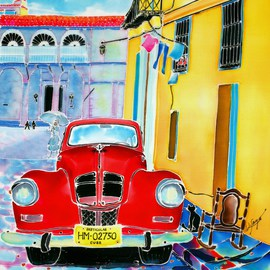Hisayo Ohta, Afternoon in Havana, 2000, Original Painting Other, size_width{Afternoon_in_Havana-1427249178.jpg} X 40 cm