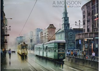 Arup Lodh; A Monsoon Kolkata, 2013, Original Watercolor, 42 x 29 inches. Artwork description: 241 Recreate the Magic of EnjoyingKolkata - a word woven with mystery. A city with as many unique interpretations as its people. Italways remained at the center of our curiosities and discussions. There is one more Kolkata which is being passed over to us through stories and ...