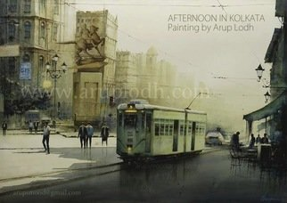 Arup Lodh; A Sunny Morning Kolkata, 2013, Original Watercolor, 42 x 29 inches. Artwork description: 241 Recreate the Magic of EnjoyingKolkata - a word woven with mystery. A city with as many unique interpretations as its people. Italways remained at the center of our curiosities and discussions. There is one more Kolkata which is being passed over to us through stories and ...