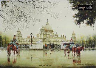 Arup Lodh; An Afternoon In Kolkata India, 2016, Original Watercolor, 42 x 29 inches. Artwork description: 241 Recreate the Magic of EnjoyingKolkata - a word woven with mystery. A city with as many unique interpretations as its people. Italways remained at the center of our curiosities and discussions. There is one more Kolkata which is being passed over to us through stories and ...