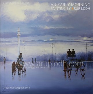 Arup Lodh; An Early Morning Kolkata, 2016, Original Painting Acrylic, 36 x 36 inches. Artwork description: 241 Recreate the Magic of EnjoyingKolkata - a word woven with mystery. A city with as many unique interpretations as its people. Italways remained at the center of our curiosities and discussions. There is one more Kolkata which is being passed over to us through stories and ...