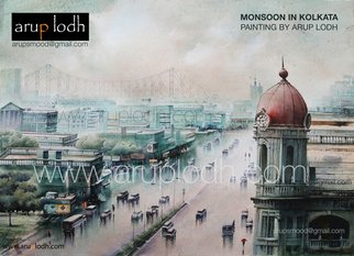 Arup Lodh; From 3rd Floor Kolkata, 2016, Original Watercolor, 42 x 29 inches. Artwork description: 241 Recreate the Magic of EnjoyingKolkata - a word woven with mystery. A city with as many unique interpretations as its people. Italways remained at the center of our curiosities and discussions. There is one more Kolkata which is being passed over to us through stories and ...