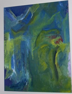 Ashley Hancock; Untitled Blue And Green II, 2010, Original Painting Oil,   inches. Artwork description: 241  Oil on Canvas       ...