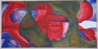 Ashley Hancock; Untitled Red And Green, 2010, Original Painting Oil,   inches. Artwork description: 241  Oil on Canvas          ...