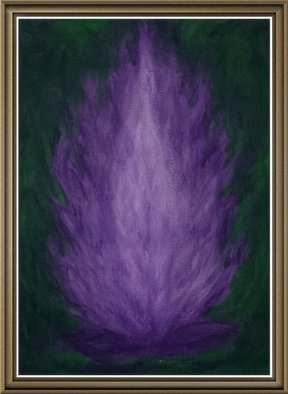 Sherry Evaschuk, My Violet Flame, 2014, Original Painting Acrylic, size_width{My_Violet_Flame-1392735674.jpg} X 12 inches