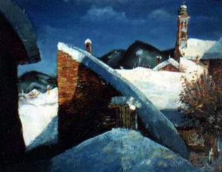 Andreasz Szanto; NAGYBANYA, 2003, Original Painting Oil, 100 x 80 cm. Artwork description: 241 landscape...