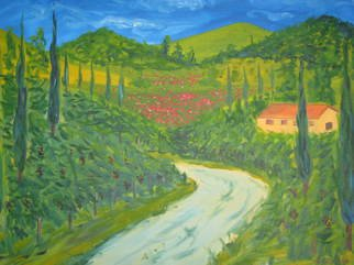 Aurelio Zerla; Fantasy Of Tuscan Countryside, 2005, Original Painting Oil, 30 x 24 inches. Artwork description: 241  Fantasy rendition of rolling hills in Tuscany. ...