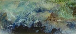 Audri Phillips; Lost Worlds, 2002, Original Painting Oil, 7 x 3 feet. Artwork description: 241 Ocean meets land.world is created.Oil on mesonite. ...