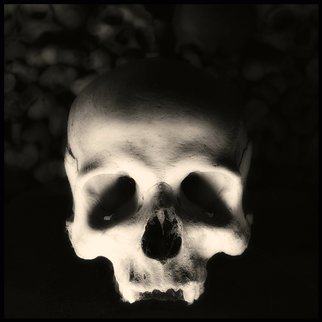 Augusto De Luca; skull 3 - by augusto de luca, 2017, Original Photography Black and White, 1.1 x 1.1 inches.