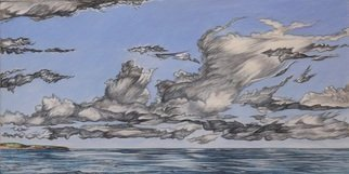 Austen Pinkerton, CLOUDS AT AMROTH, 2015, Original Painting Acrylic, size_width{CLOUDS_AT_AMROTH-1436624707.jpg} X 20 x  cm