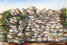 Artist: Austen Pinkerton's, title: DRYSTONE WALL, 2012, Drawing Other