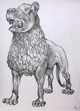 Artist: Austen Pinkerton's, title: Lion Sculpture in Victoria ..., 2014, Drawing Other