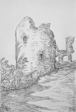 Artist: Austen Pinkerton's, title: NARBERTH CASTLE, 2015, Drawing Pencil