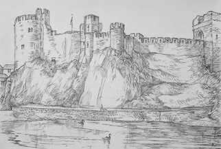 Austen Pinkerton, PEMBROKE CASTLE, 2015, Original Drawing Pencil, size_width{PEMBROKE_CASTLE-1441647993.jpg} X 30 x  inches