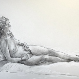 Austen Pinkerton, , , Original Drawing Other, size_width{carly_number_2-1549568277.jpg} X 40 cm