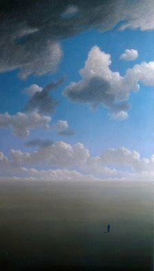 Austen Pinkerton, clouds, 1976, Original Painting Acrylic,    inches