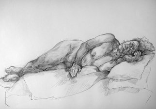 Austen Pinkerton; Dorothy Number One, 2019, Original Drawing Crayon, 58 x 40 cm. Artwork description: 241 Life drawing of Dorothy, in her 70 s, at Narberth Museum Life Drawing Group, Wales, U. K. ...