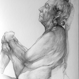 Austen Pinkerton, , , Original Drawing Graphite, size_width{dorothy_number_two-1558289794.jpg} X 42 cm