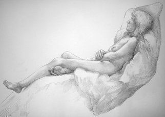 Austen Pinkerton; Fedulah Number 5, 2018, Original Drawing Graphite, 60 x 42 cm. Artwork description: 241 PORTRAIT FIGURE LIFE NUDE ...